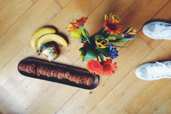 Soft peanut butter and banana biscuits./ Печенье с арахисовым маслом и бананом.