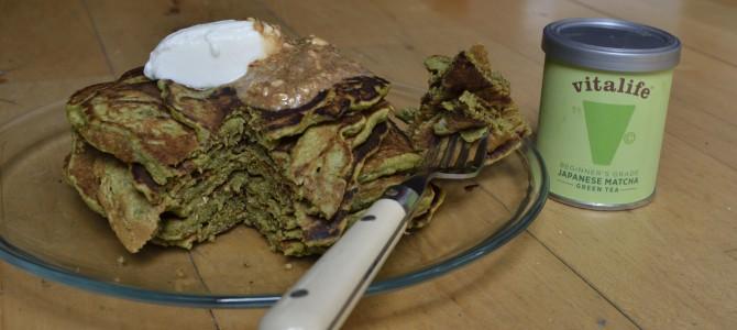 Antioxidant Matcha tea pancakes ./ Блинчики с Чаем Матча.