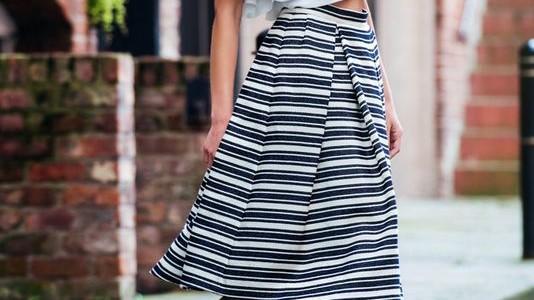 Striped skirt day./ День полосатой юбки.